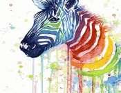 Zebra akvarell online élményfestés élő közvetítés