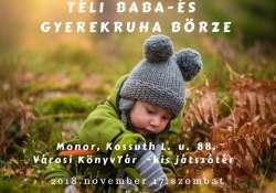 Monorimamis téli Baba- és gyerekruha börze