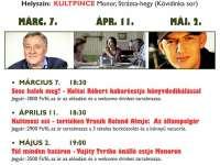 KultMozi Klub tavaszi programjai